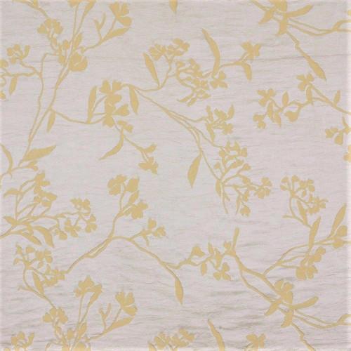 Fabric Robert Allen Beacon Hill Thale Cress Yellow Lotus Embroidery Silk II15