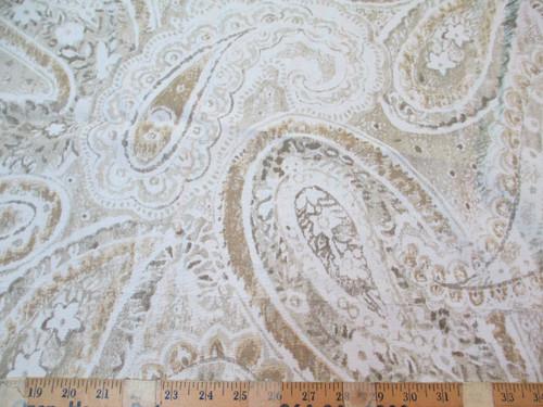 Fabric Richloom Upholstery Drapery Stanton Glacier Shabby Chic Paisley MM46