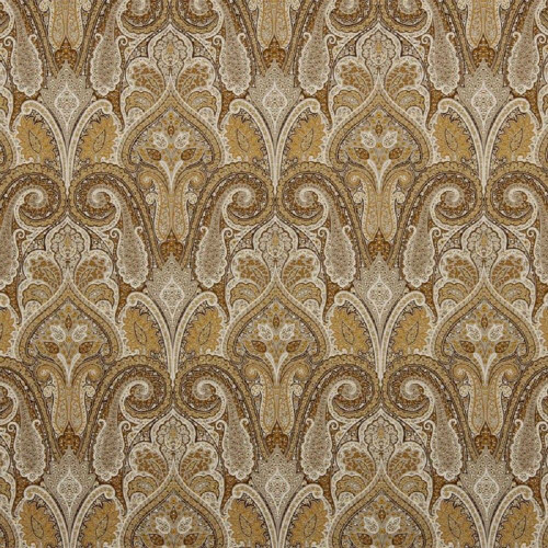 Discount Fabric Waverly Upholstery Drapery Cashmere Butterscotch Paisley EE21