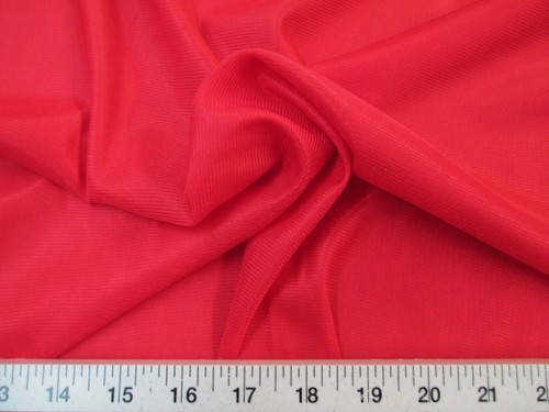 """Discount Fabric 108"""" wide Aerial Silks Acrobatic Dance Stretch Tricot Red TR06"""