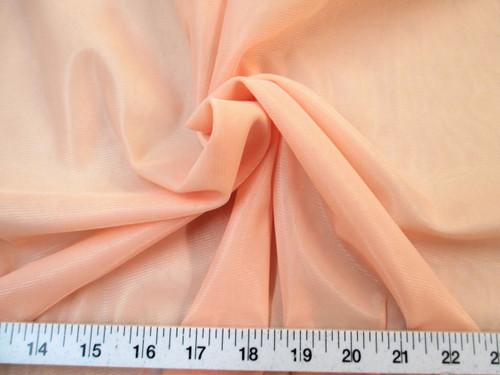 "Discount Fabric 108"" wide Aerial Silks Acrobatic Dance Stretch Tricot Light Peach TR08"