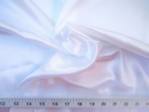 Discount Fabric Charmeuse Silky Bridal Satin Apparel White Taf11