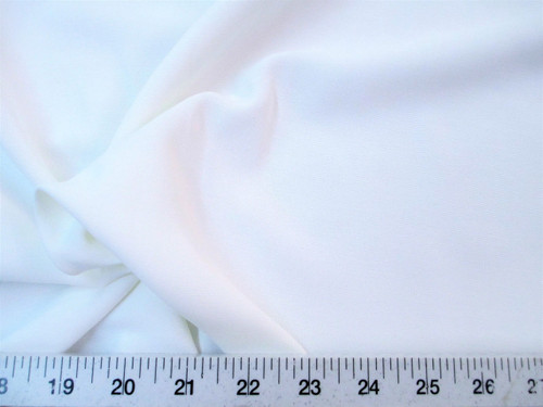 Discount Fabric BENGALINE Faille 60 inches wide Solid White Ben105