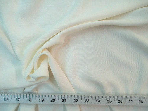 Discount Fabric BENGALINE Faille 60 inches wide Solid Ivory Ben106