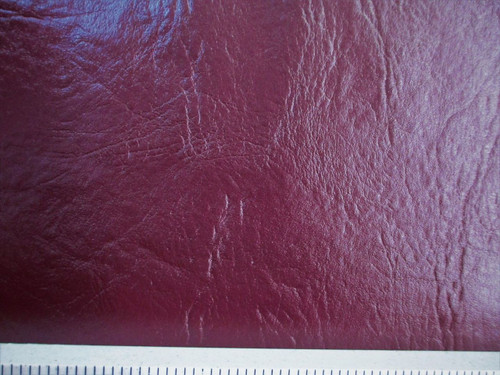 Discount Fabric Faux Leather Upholstery Pleather Vinyl Burgundy Wine PL15