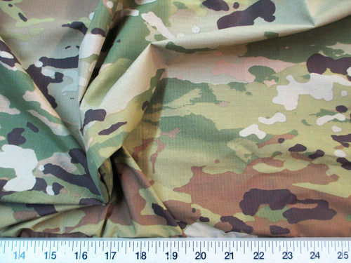 Discount Fabric Ripstop Rip Stop Nylon Water Resistant Woodland Camouflage RS32