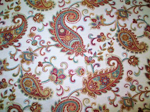 Discount Fabric Richloom Upholstery Drapery Paddington Rainbow Paisley GG42