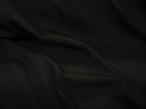 Discount Fabric Polyester Lycra/Spandex 4 way Super Stretch Solid Black LY980