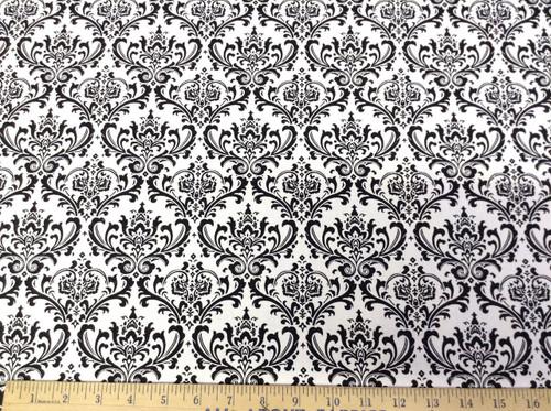 Discount Fabric Premier Prints Maddison Black and White PR07