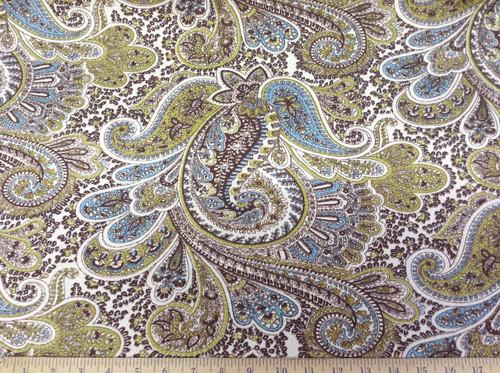 Discount Fabric Premier Prints Paisley Chocolate PR13