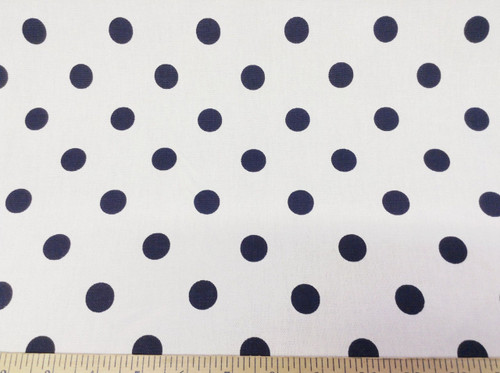 Discount Fabric Premier Prints Polka Dots White and Blue PR08