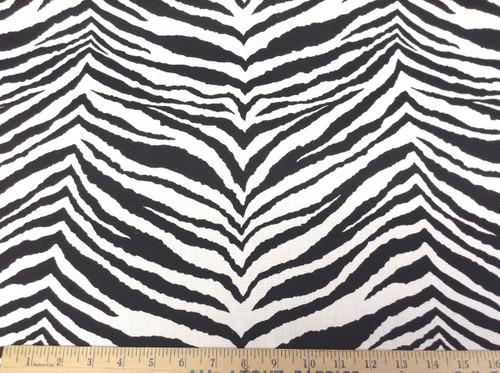 Discount Fabric Premier Prints Tunisia Zebra Black and White PR16
