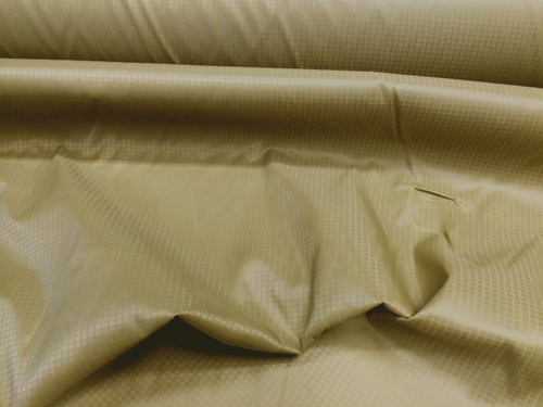 Discount Fabric Ripstop Rip Stop Nylon Water Resistant Dark Old Gold RS06