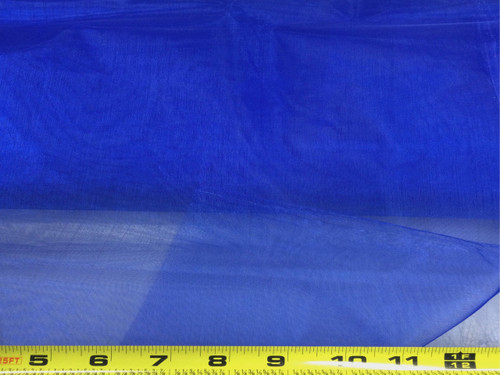 Discount Fabric Crystal Organza Sheer Blue OR73