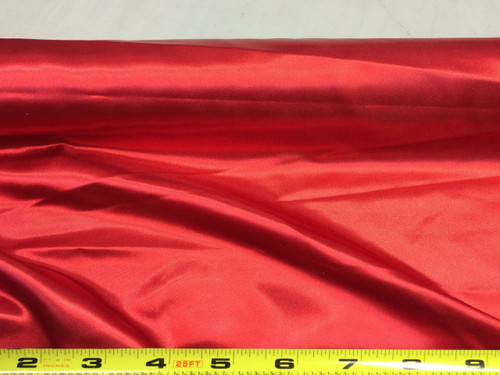 Discount Fabric Satin Red 65 inches  wide SA01