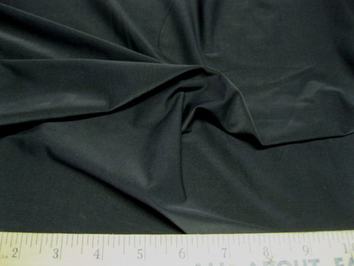 Discount Fabric Polyester Lycra Spandex 4 Way Stretch Solid Black  LY400