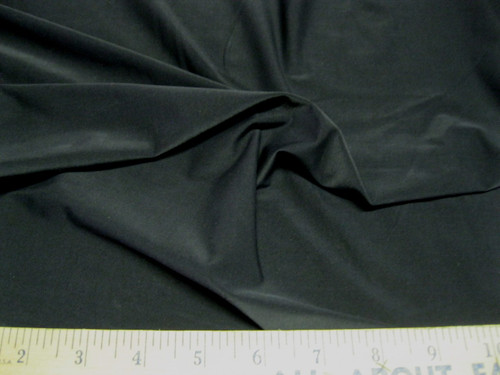 Discount Fabric Polyester Lycra/Spandex 4 way stretch Light Weight  Solid Black LY401