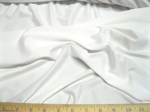 Discount Fabric Polyeser Lycra /Spandex  4 way stretch White Matt Finish LY710