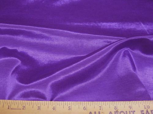 Discount Fabric BENGALINE Faille Solid Advent Purple  Ben111