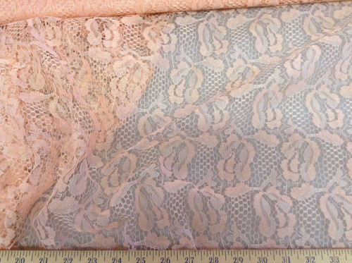 Discount Fabric Lace intricate Salmon Pink Free Shipping USA LC3