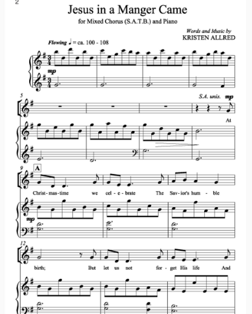 60 Best All Sheet Music By Kristen Allred Images On: I'll Embark In The Service Of God (SA) And Piano