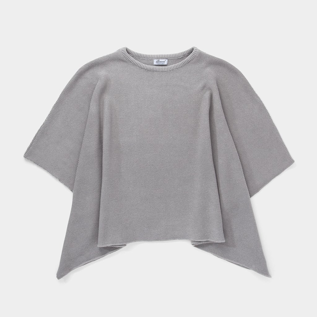 Knitted Poncho - Grey