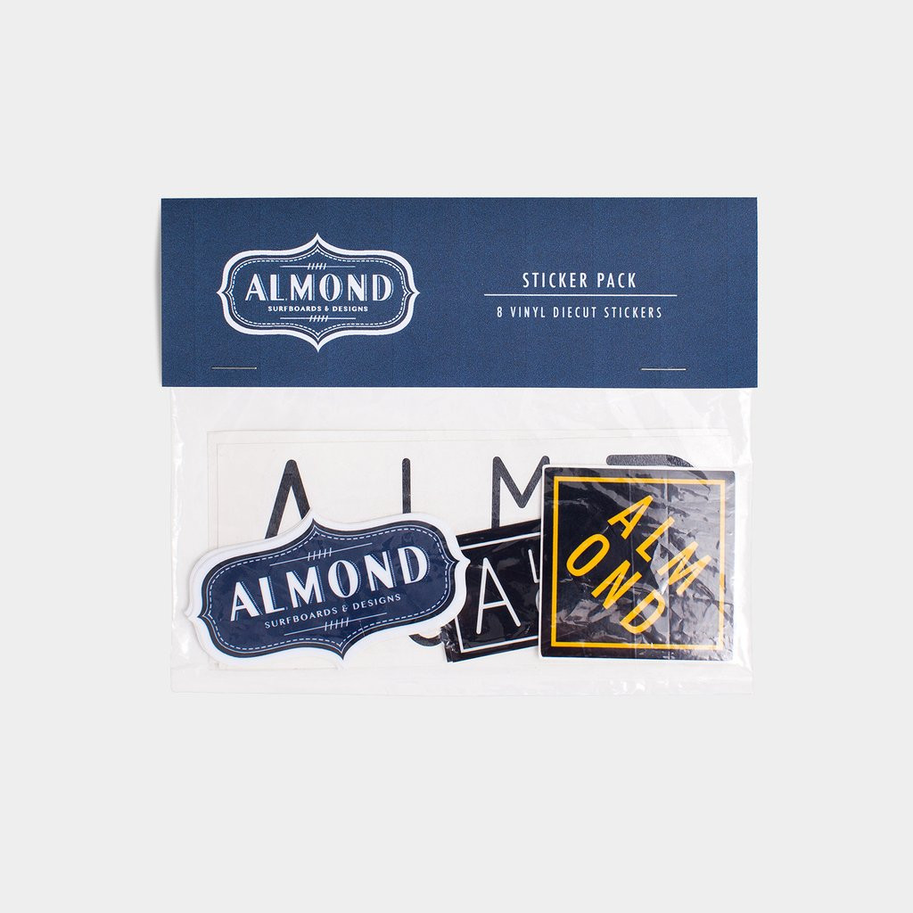 Almond Sticker Pack - Set of 8