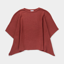 Knitted Poncho - Maroon