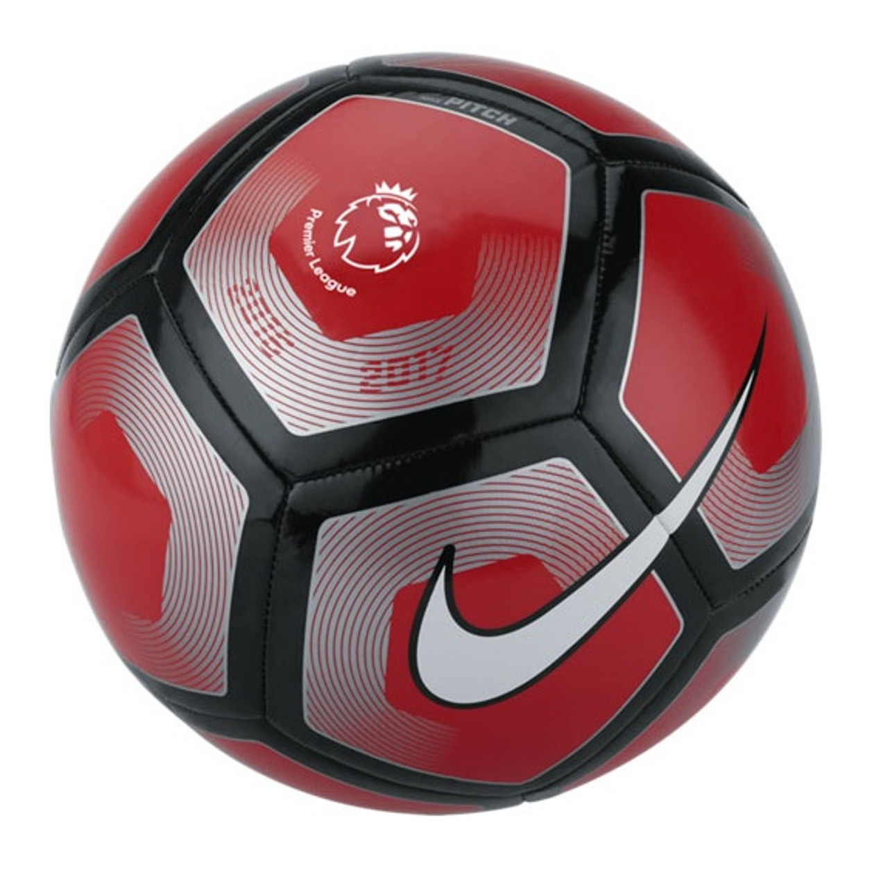 ab3a1a086f96 Nike Premier League Pitch Ball - Red/Black/Silver - ohp soccer