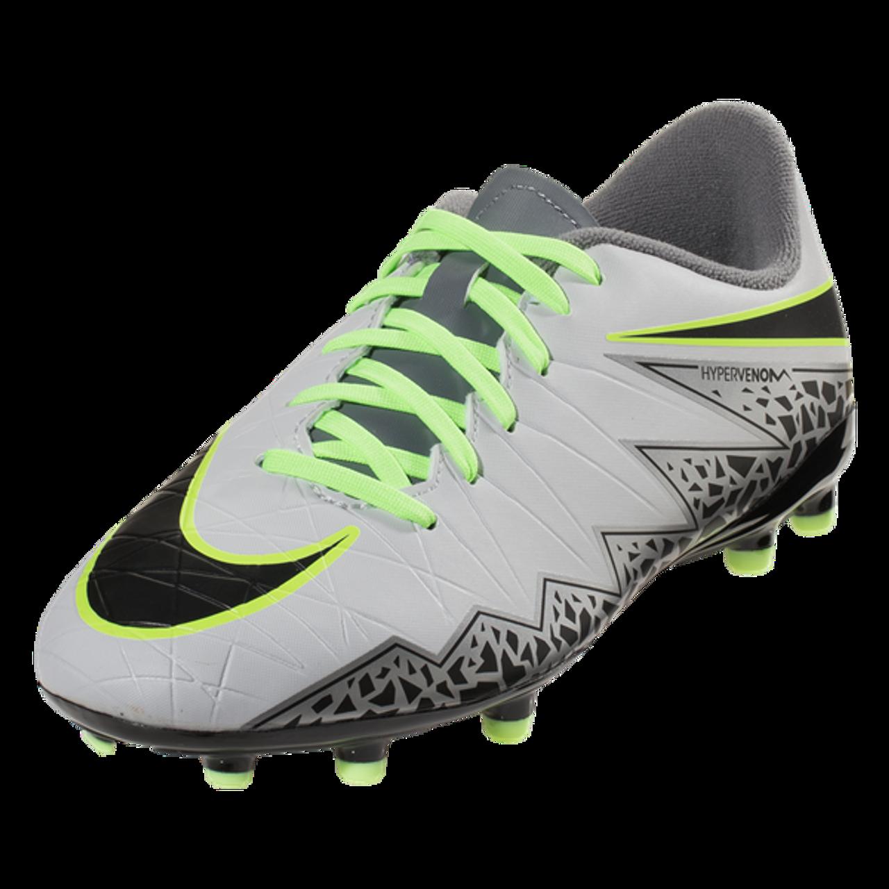 size 40 55d48 cd4a3 Nike Hypervenom Phelon II FG - Pure Platinum/Black/Ghost Green/Cool  Grey/Metallic Silver/Clear Jade (123016)