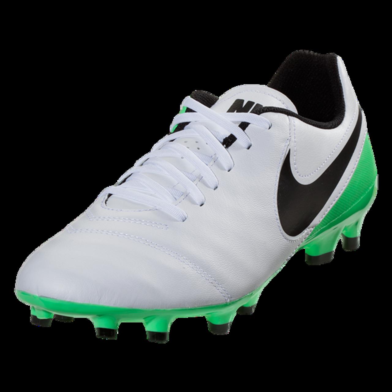 newest c8f67 8ffbe Nike Tiempo Genio II Leather FG - WhiteBlackElectro Green(41917) - ohp  soccer