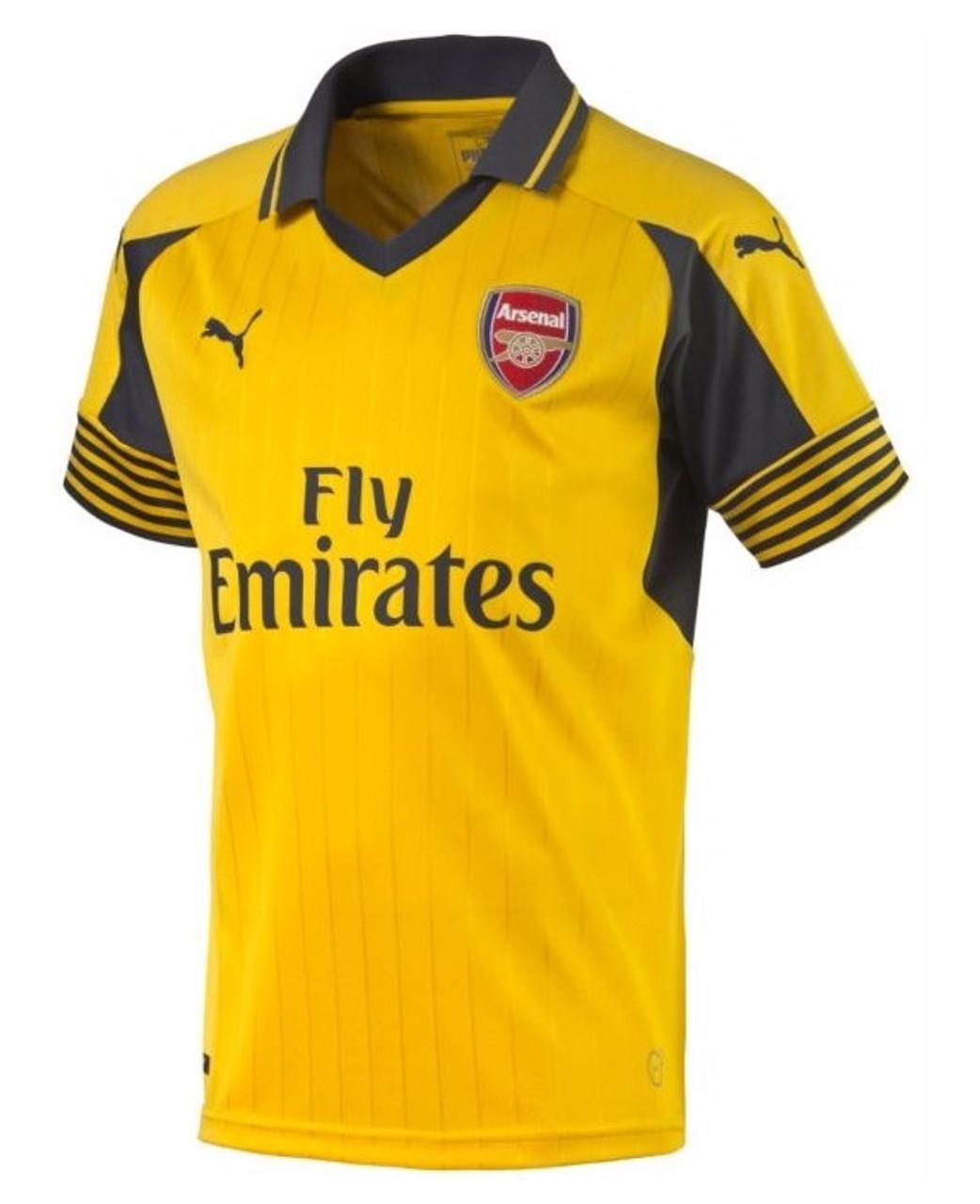 Puma Arsenal 2016-2017 Away Jersey Spectra - Yellow Ebony (101117 ... 00b4768fb