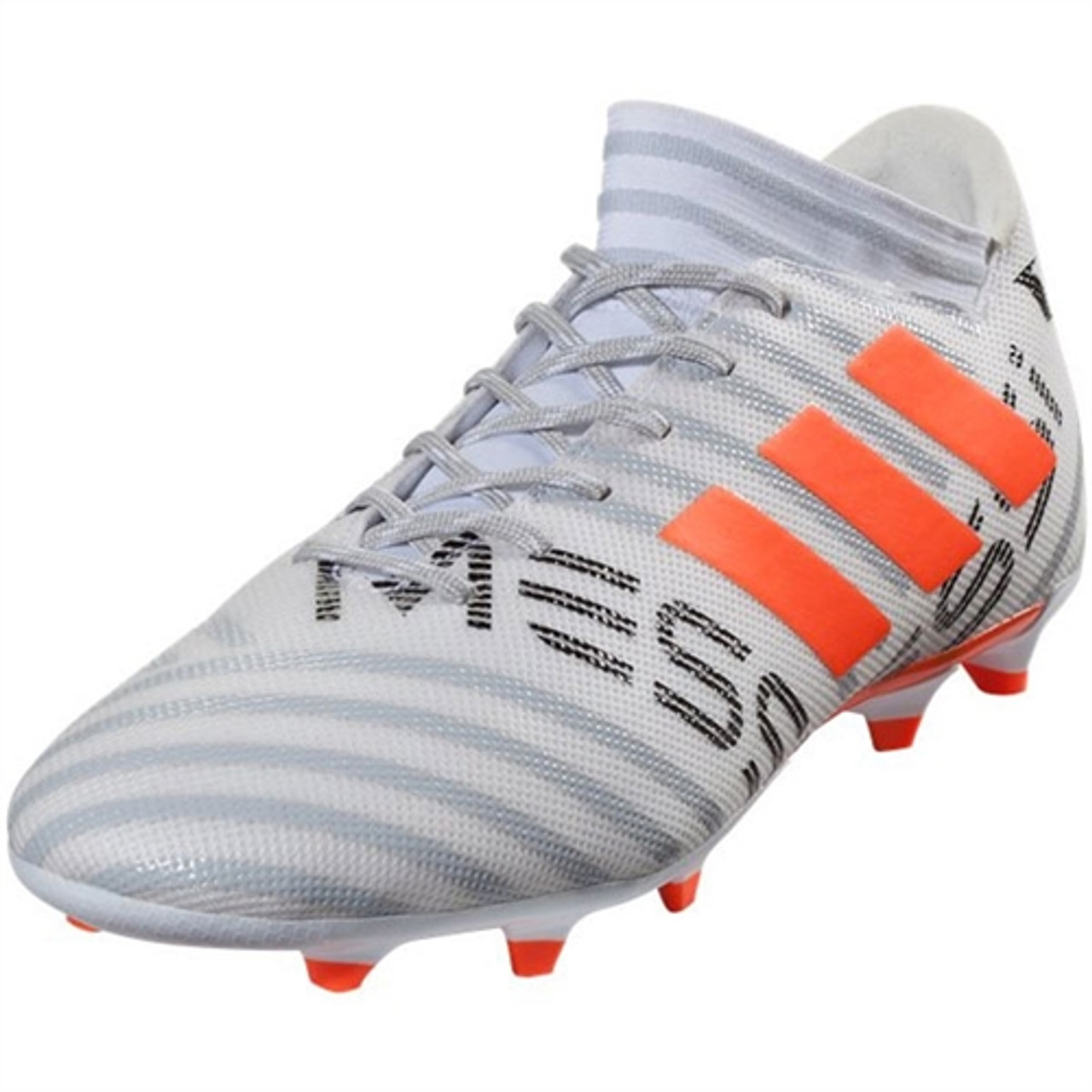 8dac4e1f96509 Adidas Nemeziz Messi 17.3 FG - White/Solar Orange (101917) - ohp soccer