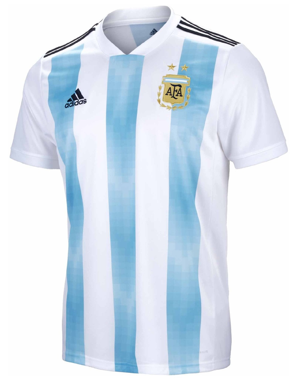 adidas Argentina World Cup 2017 18 Home Jersey - White Clear Blue Black  (111117) - ohp soccer 8a2c7369a