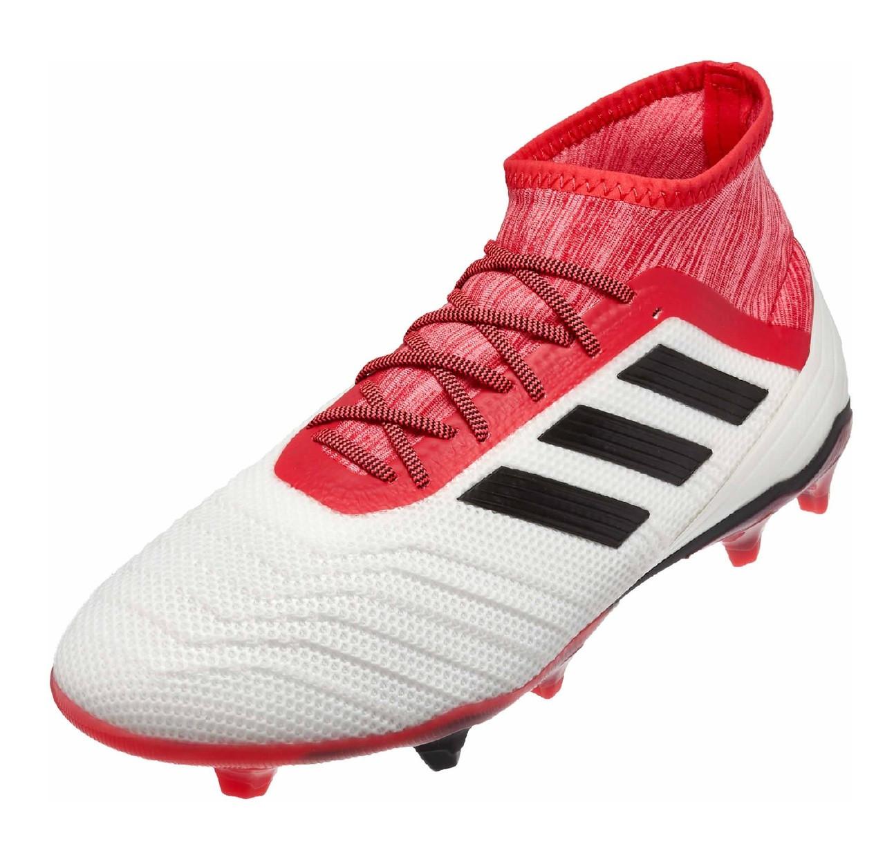 2b99f2a89 Adidas Predator 18.2 FG - White Core Black Real Coral (2518) - ohp soccer