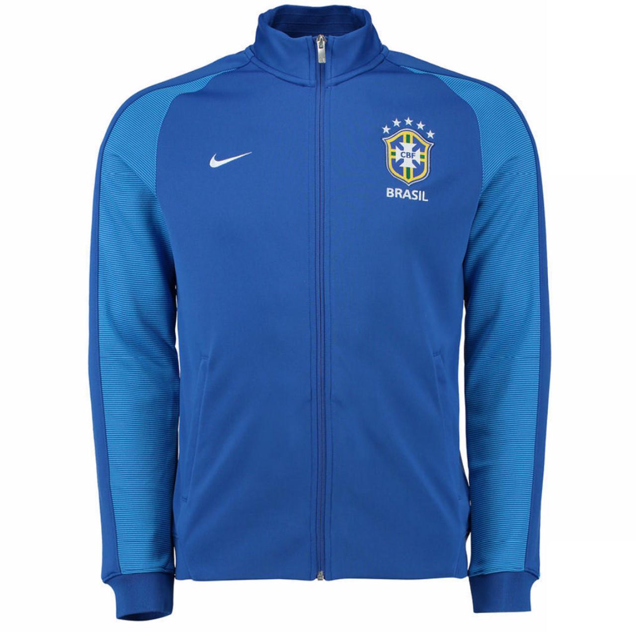 e5fb3a88f538 Nike Brazil 2016 17 Authentic N98 Track Jacket - Blue White (52818) - ohp  soccer