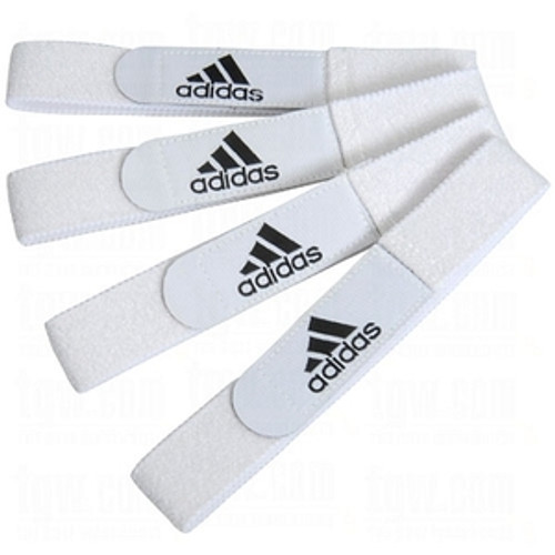 adidas Shin Guard Straps - White