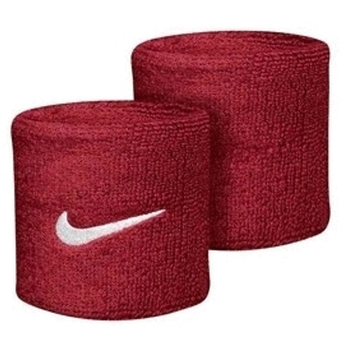 Nike Swoosh Wristbands - Red/White