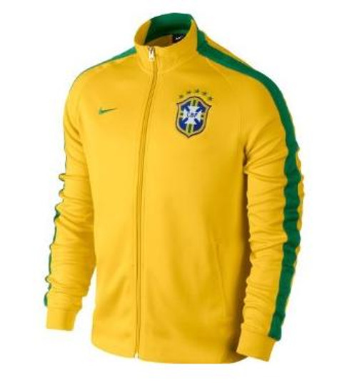 Nike N98 CBF Authentic Track Jacket - Yellow/Green SD (6318)