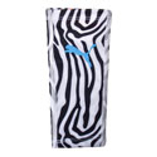 Puma Neon Jungle Shin Guard Sleeve - Black/White Zebra