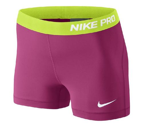Nike Wmns Pro 3 Short - Hot Pink/White