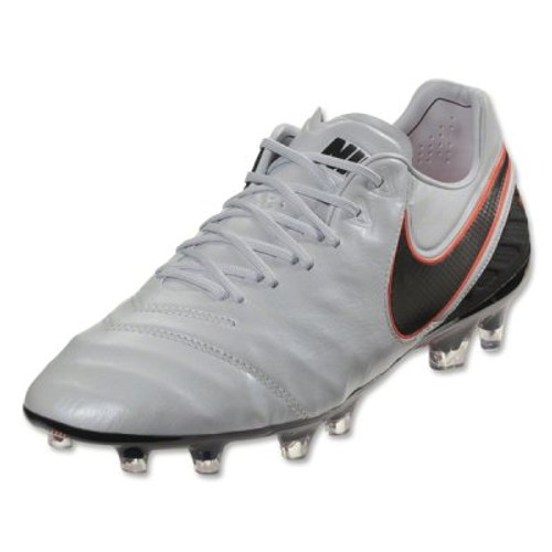 Nike Tiempo Legend VI FG - Pure Platinum/Black/Metallic Silver/Hyper Orange RC (42317)