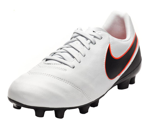 Nike Jr Tiempo Legend VI FG - Pure Platinum/Black/Metallic Silver/Hyper Orange