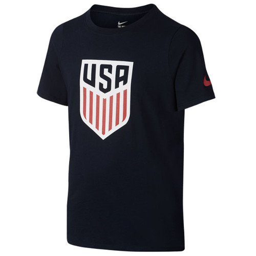 Nike Youth USA Crest Tee - Obsidian/Red