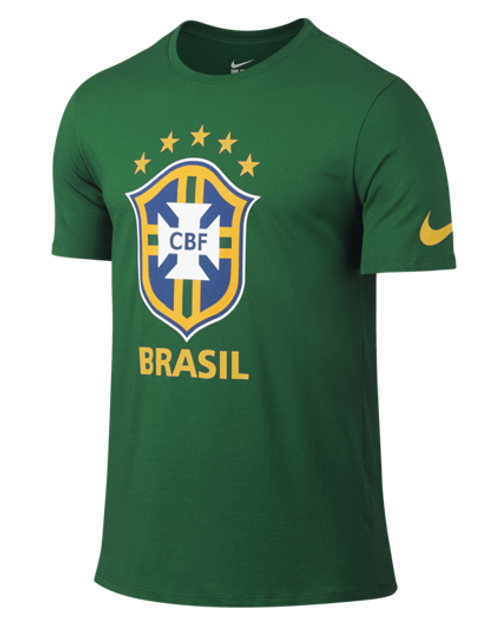 Nike Brazil Crest Tee - Green/Yellow (53018)