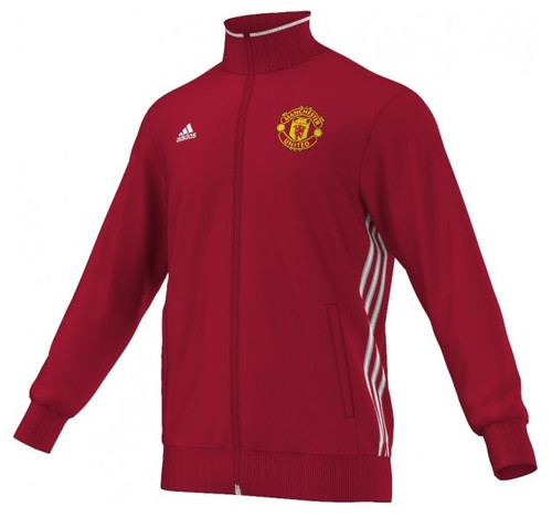 adidas Manchester United 3S Track Top - Red/Yellow