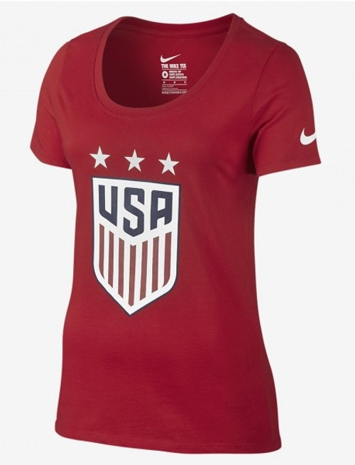 Nike Womens USA Crest Tee - Red/Blue