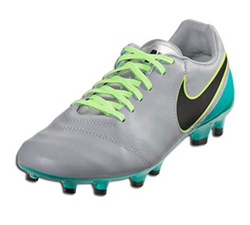Nike Tiempo Genio Leather FG - Wolf Grey/Clear Jade/Black/Volt (112917)