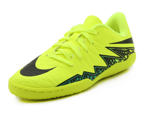 Nike Jr Hypervenom Phelon II IC - Volt/Black (10518)