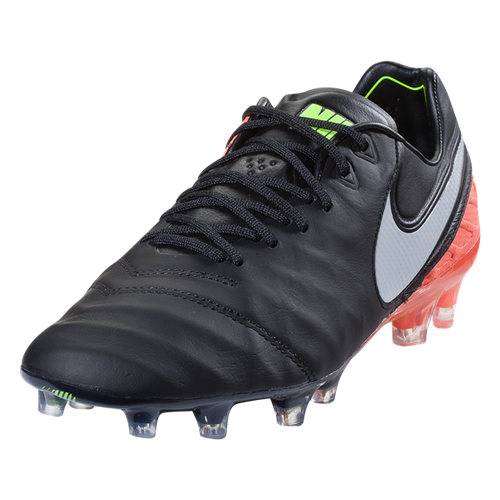 Nike Tiempo Legend VI FG - Black/White/Hyper Orange/Volt (10618)